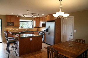 Photo of a decluttered and clean kitchen