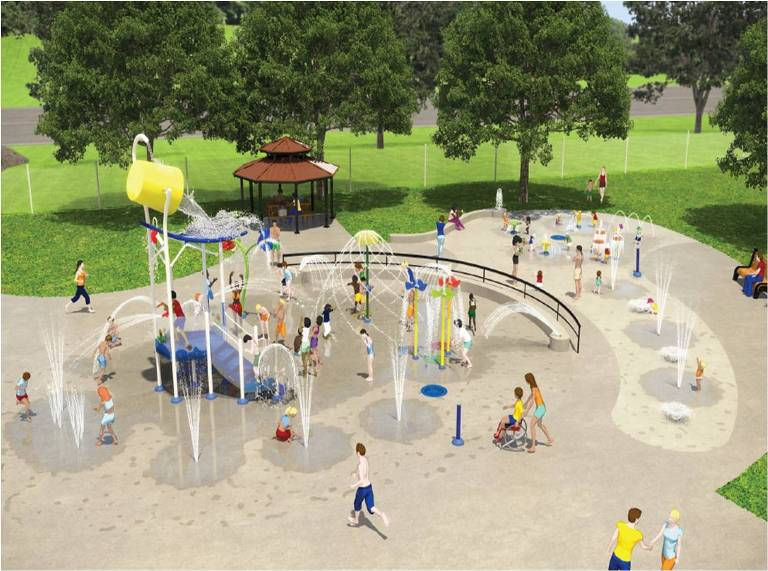 Burlington new Nelson pool splash pad
