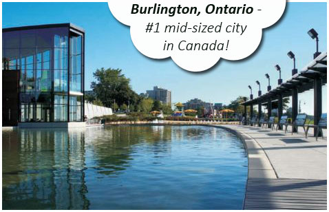 Burlington, Ontario number 1 mid-sized city in Canada