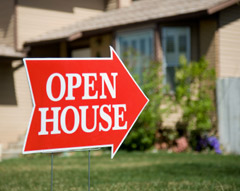Photo of Open House Lawn Sign