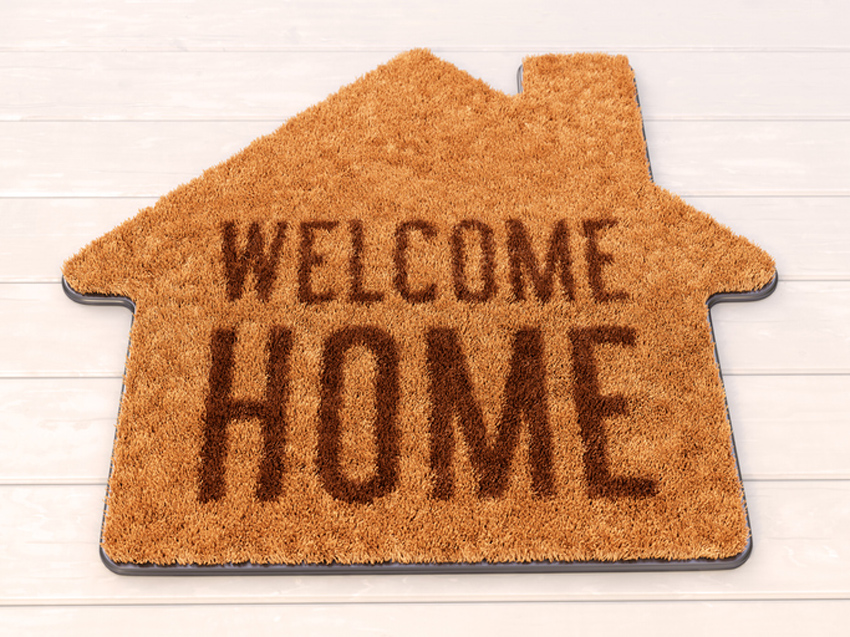 House shaped Welcome mat
