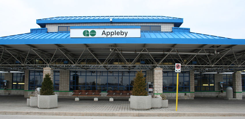 Appleby GO Station in Pinedale area of Burlington, Ontario