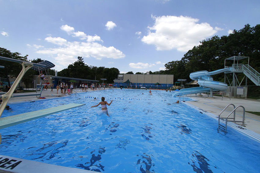 Burlington's Mountainside Outdoor Community Pool