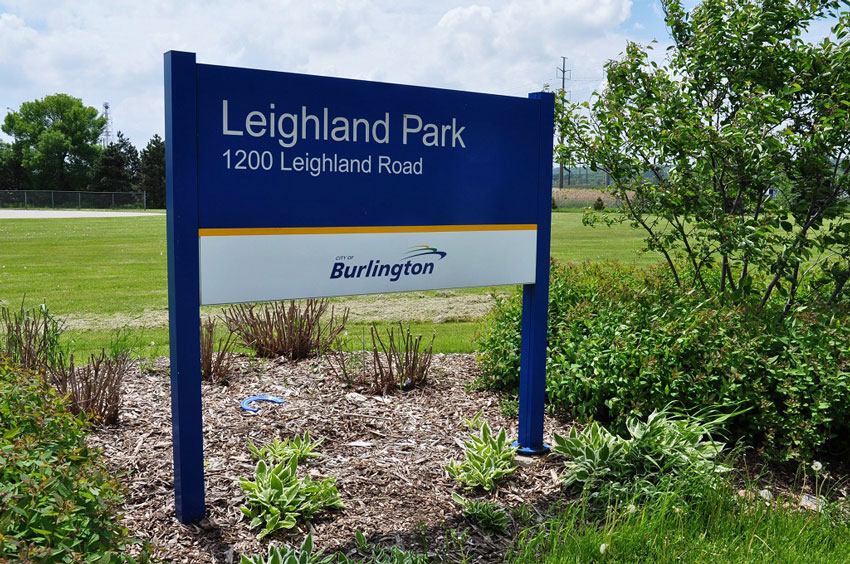 Leighland Park in Plains area of Burlington, Ontario