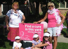 Photo of  Lori VanDinther,Vicki Miller and the Gordie Tapp Girls