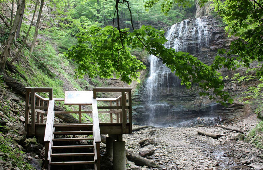 Tiffany Falls in Ancaster, Ontario